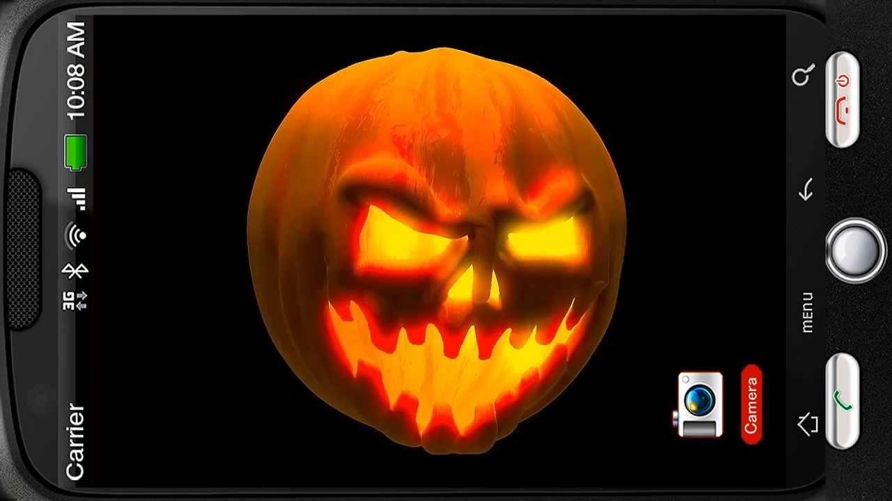 Scary Halloween Pumpkin Mix 3D Deluxe HD Edition Live Wallpaper For Android