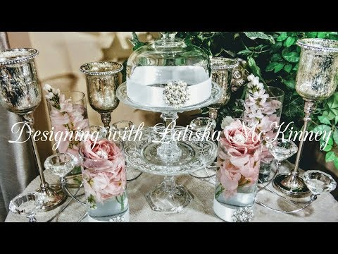 How To| DIY Bling Dollar Tree Centerpieces | DIY Glam Wedding Ideas| DIY Bling Decor💎