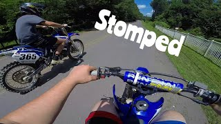 $400 Yz85 Smokes Yz250 Big Bore (Almost hit a Car)