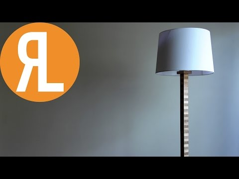 Plywood Inspired Floor Lamp | A Timeless Look