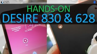HTC Desire 830 and Desire 628 Hands-on Overview