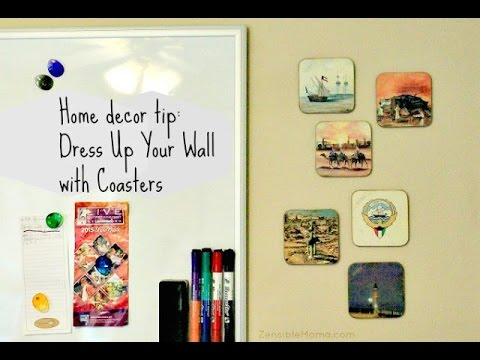Fun Way to Display Your Coasters As Accent Wall Decor - YouTube