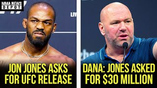Jon Jones goes off on Dana White and asks for UFC release, Dana reveals Jones negotiations, MMA News