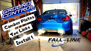 Bmw M2 Rebuild -  Part 9 Time for mods, camber plates and toe links install