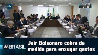 Jair Bolsonaro cobra de medida para enxugar gastos | SBT BRASIL (08/01/2019)