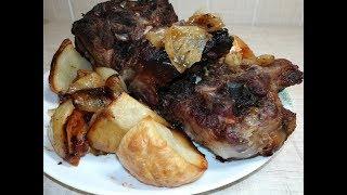 Баранья шея в кисло-сладком соусе - Lamb neck in sweet and sour sauce.