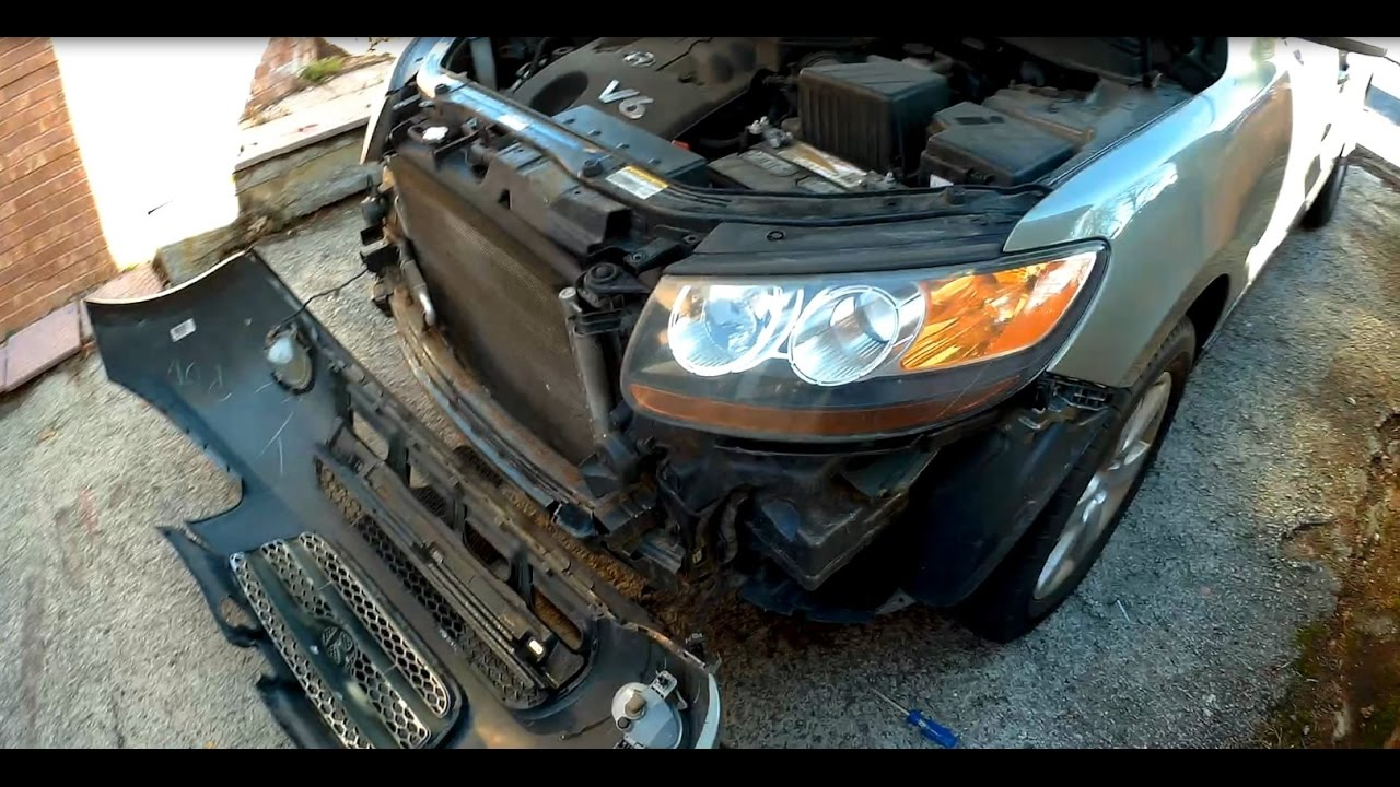 How to remove install front bumper cover Hyundai Santa Fe  YouTube