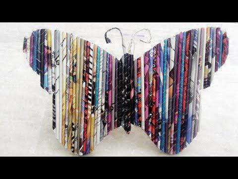 DIY : Magazine art - Butterfly    HOME DECOR   