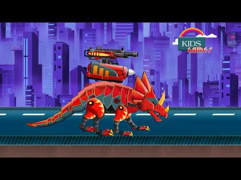 Dinosaur Robot Wars - Triceratops Vs. Theropod | KIDS GAMES