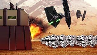 Minecraft   STAR WARS BASE CHALLENGE - First Order Attacks! (Star Wars Movie)