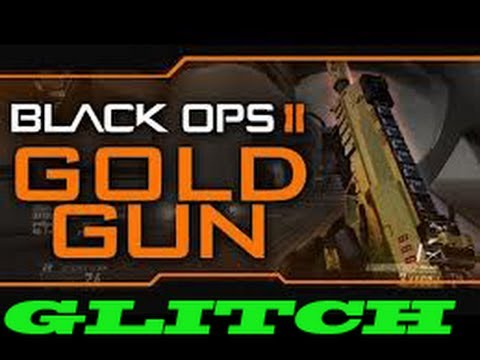 Black Ops 2 - Gold Gun Glitch