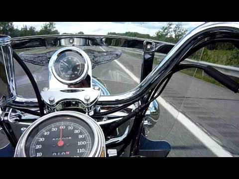 Bill McCall's 1994 Harley Davidson Heritage hits 80,000 miles in Maine