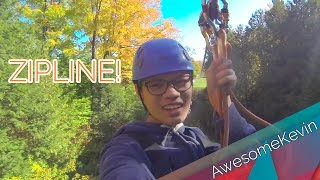 ZIPLINE ~ Big Zip at Treetop Eco-Adventure Park ~ October 11