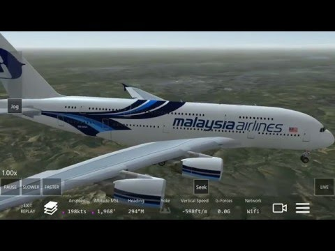 Malaysia Airlines A380-800  Landing at Beijing