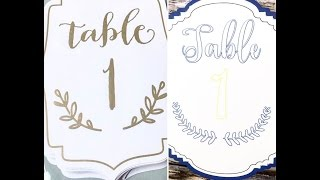 *SILHOUETTE SUNDRIES* | How to Make WEDDING | EVENT Table Numbers
