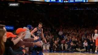 Kevin Love Hits The TOUGH Shot And High-Fives Spike Lee