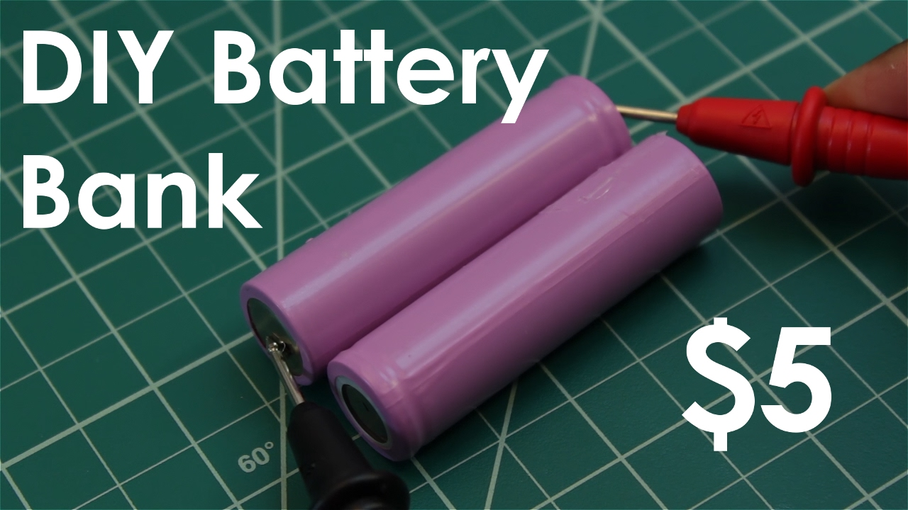 Diy Battery Bank From Old Lithium Ion Batteries