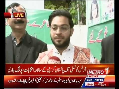 DR. Amir Liaqat............Karachi Arts Council Election