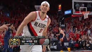 Seth Curry On Fire - Drills Three 3's in a Row - Game 4 | Nuggets vs Blazers | 2019 NBA Playoffs