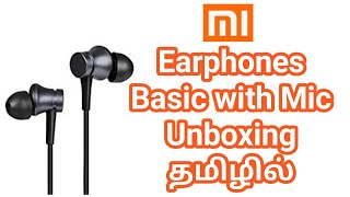 Mi Earphones Basic with Mic (Black) Unboxing in Tamil Tech HD