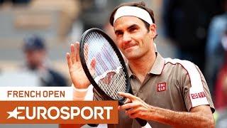 Roger Federer vs Lorenzo Sonego Highlights | Roland Garros 2019 Round 1 | Eurosport