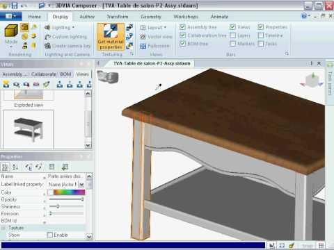3DVIA Composer - How to copy a Property - July 2010