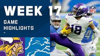 Vikings vs. Lions Week 17 Highlights
