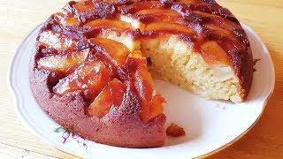 Пирог с яблоками в карамели (на сковороде)