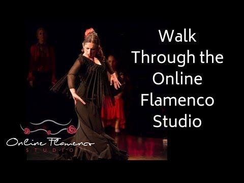 Tour the new Online Flamenco Studio