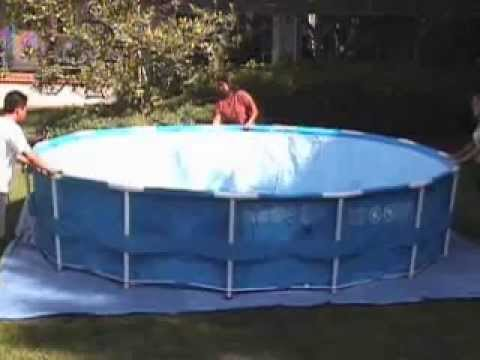 Piscina intex metal frame youtube for Alberca intex