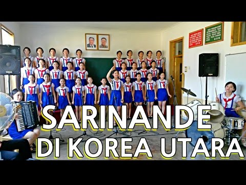 Anak Korea Utara menyanyikan lagu Indonesia - Sarinande