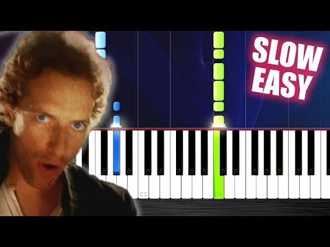 Coldplay - Viva La Vida - SLOW EASY Piano Tutorial by PlutaX
