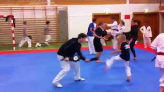 vuclip Frederik training with Aaron Cook at Røra Olympic Taekwondo Camp