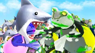 SHARK FROGS vs ZOMBIE FROGS! - Amazing Frog - Part 138   Pungence
