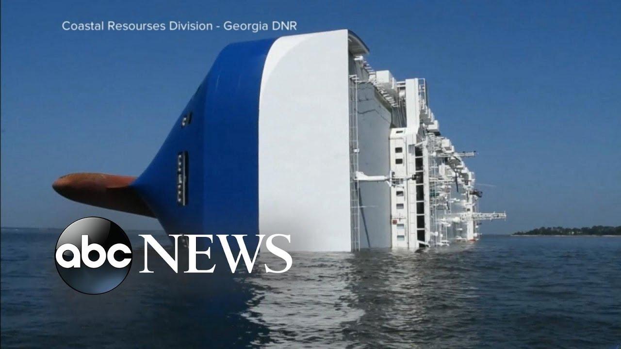 Cargo ship bursts into flames off the coast of Georgia