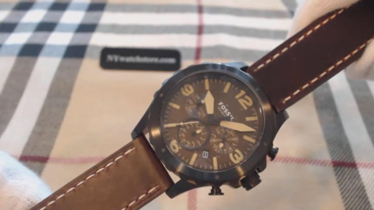 e1f5e91a7 Men's Fossil Nate Brown Chronograph Watch JR1502 - YouTube