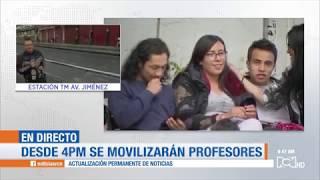 Conozca las rutas que tomarán las marchas de los estudiantes en Bogotá