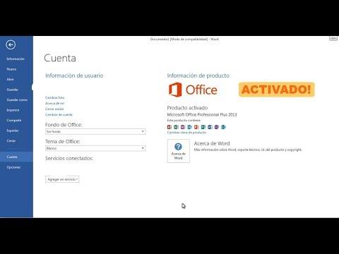 Office 2013 y 2010 - Activar producto gratis