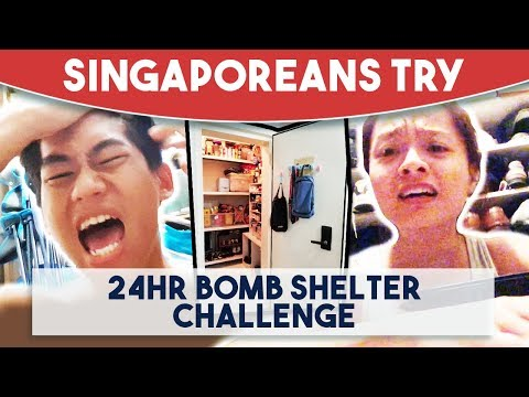 Singaporeans Try: 24 Hour Bomb Shelter Challenge