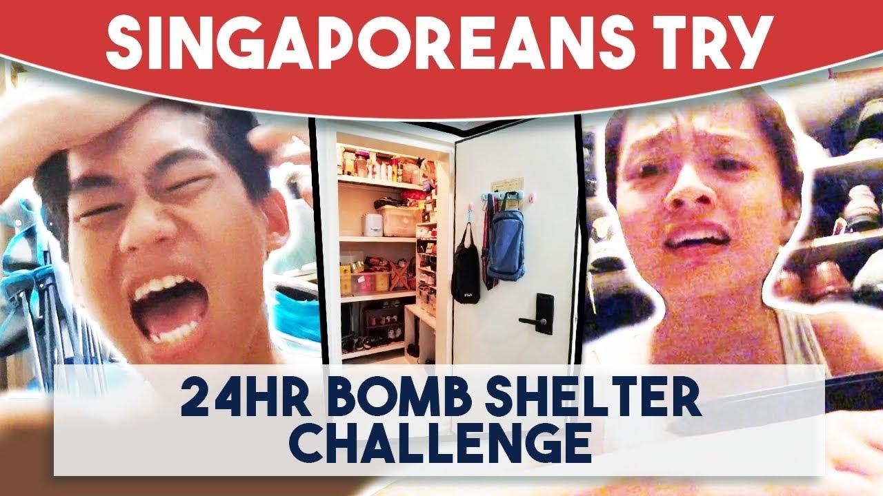Singaporeans Try: 24 Hour Bomb Shelter Challenge