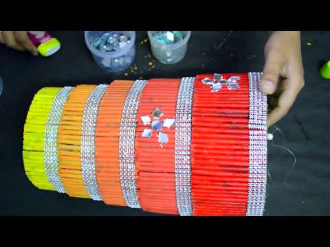 Newspaper Craft /Simple Method To Make Jhoomar With Newspaper | Home Decoration Idea