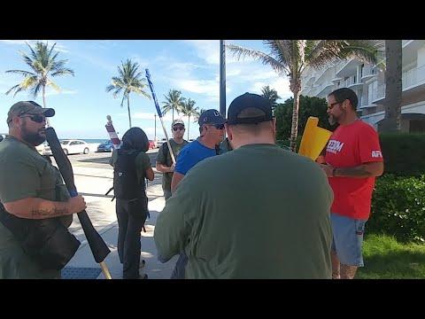 Palm Beach FL Impeachment March Counter Protest Coverage