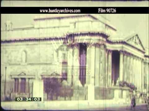 Cambridge University And City In The 1950's.  Film 90726