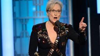 HOLLYWOOD DEMOCRAT MERYL STREEP GAVE AMERICA DONALD TRUMP: Thank Streep For Trump Beating Clinton