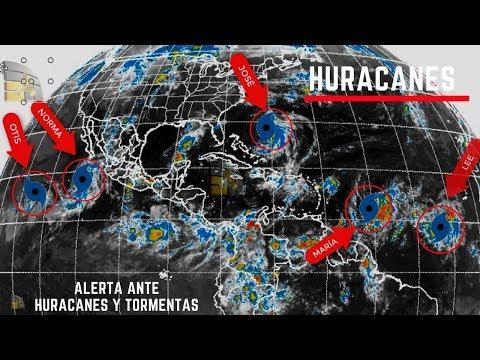 Tormentas y huracanes activos: Norma, Jose, Otis, Lee y Maria
