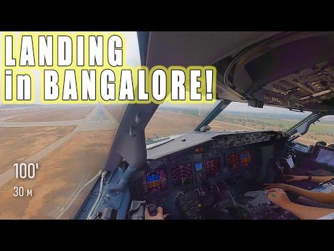 Boeing 737 Landing in Bangalore, Kempegowda International Airport | PILOT STORIES