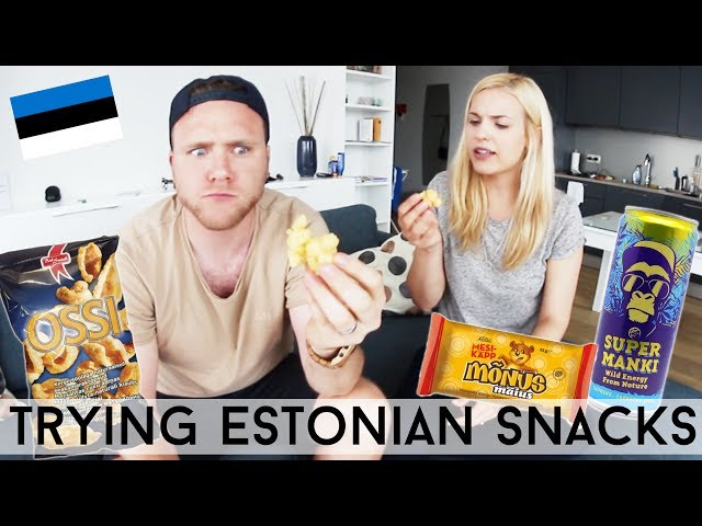TRYING ESTONIAN SNACKS AND DRINKS