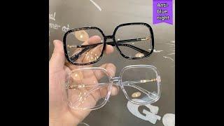 Большой женский анти синий светильник очки винтажная квадратная оправа женские модные очки