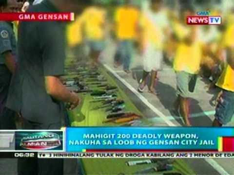 BP: Mahigit 200 deadly weapon, nakuha sa loob ng GenSan City Jail