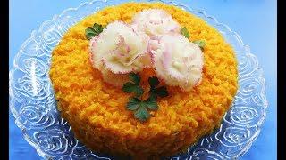 ПЕЧЕНЬ ПОД ШУБОЙ ! Слоёный вкуснейший салат с нежным маринованным луком и куриной печенью